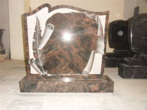 Granite Tombstone, American Style Monument Stone, Gravestone pictures & photos