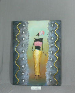 Swaying African Girl Pattern Home Canvas Hanging Painting pictures & photos