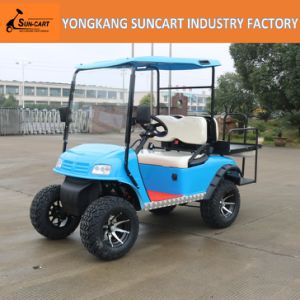 4 Seater Blue Color Hunting Buggy Golf Buggy Electric Power Car pictures & photos