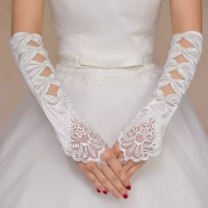 Aoliweiya Wedding Accessories Satin Long Bridal Glove pictures & photos