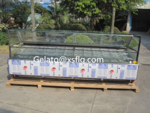 Italian Gelato Display Showcase/3.4m Gelato Display pictures & photos