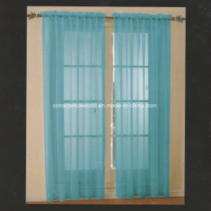100%Polyester Dyed Voile Panel Window Curtain pictures & photos