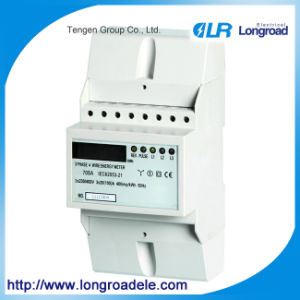 DIN Rail Mounting Three Phase Electronic Kwh Meter pictures & photos