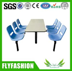 School Canteen Desk 4 Seats Dining Table pictures & photos