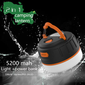 Fashion Style Changeable Hook Design Camping Lantern Power Bank C5 for Camping Equipment pictures & photos
