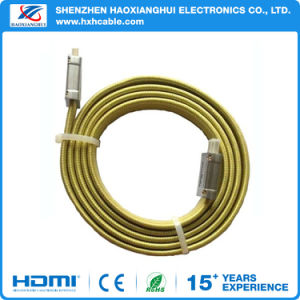 Flat AWG 20276 High Speed Ethernet 3D 1.4/2.0V HDMI Cable pictures & photos