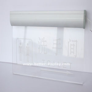 Acrylic Sign Holder with Suction Cups or Chains pictures & photos