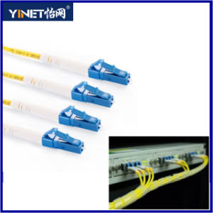 LC to LC Duplex Fiber Optic Patch Cable 3.0mm LSZH Jacket 657 Optical Fiber Based pictures & photos
