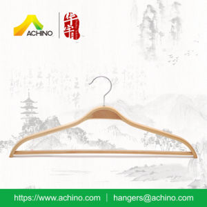 Wooden Laminated Clothes Hangers with Bar for Men pictures & photos