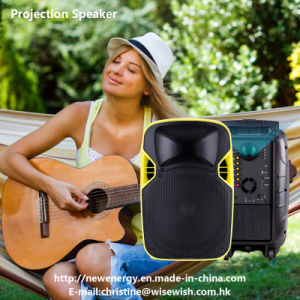 12 Inches Plastic Outdoor Active LED Projection Speaker with Battery pictures & photos