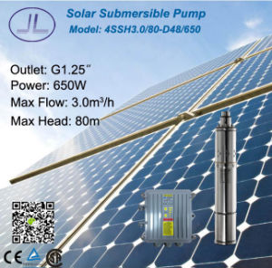4in Stainless Steel Submersible Solar DC Pump, Solar Irrigation, Deep Well Pump pictures & photos