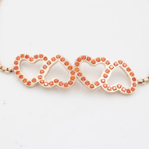 4 Hearts Charms with CNC Stones Adjustable Fashion Bracelet Jewelry for Valentine′s Day Gift pictures & photos