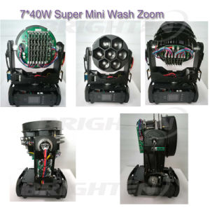7*40W LED Customized Mini Moving Head Wash Light with Zoom pictures & photos