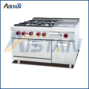 Gh996A 4-Burner with Griddle with Gas Oven pictures & photos