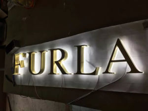 Metal Aluminum Stainless Steel Brass Titanium Fabricated Illuminated 3D Dimensional Letter Sign pictures & photos