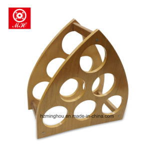 Triange Unique Pyramid Wooden Wine Rack with High Quality pictures & photos