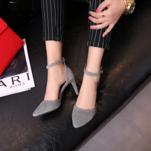 Womens Platform Stiletto Ladies High Heel Sandal Leather Shoes pictures & photos