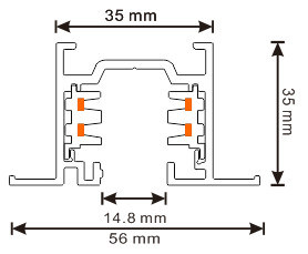 EU Standard Square Recessed Three Circuits LED Lighting Track (XR-RL510) pictures & photos