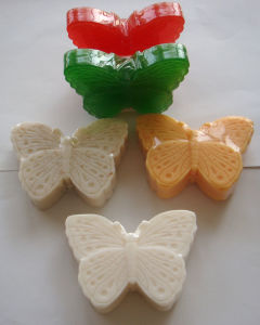 Natural Butterfly Shape Beauty Toilet Soap Bar for Bathing pictures & photos