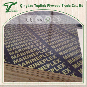 Poplar Core 18mm Imprinted Film Faced Plywood pictures & photos