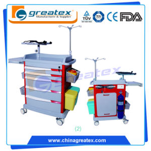 The 2017 Newest Design Colourful Emergency Trolley with United ABS Rail Guard pictures & photos