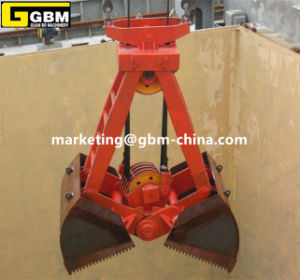 Mechanical Four Rope Clamshell Buckets Leakproof Crane Grab pictures & photos