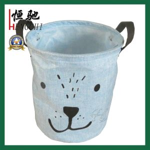 Logo Printed Foldable Storage Basket Laundry Basket Wholesale pictures & photos