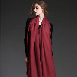 Red Cashmere Scarf Shawl for Women pictures & photos