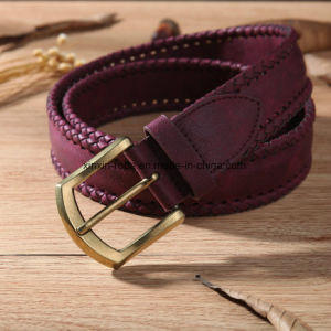 High Quality PU Leather Artificial Weaving Pin-Buckle Belt Hot Sale pictures & photos