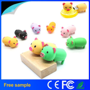 Wholesale Free Sample PVC Piggy USB Flash Drive in Stock pictures & photos