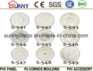 PU Ceiling Medallions/Decorative Ceiling Medallion/Polyurethane Cornice Moulding pictures & photos