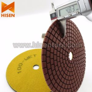 "Professional 7"" Diamond Wet Flexible Polishing Pads pictures & photos"