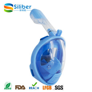 2017 Amazon Hot Selling Silicone Full Face Snorkel Mask for Kids Easy to Breath Diving Mask pictures & photos