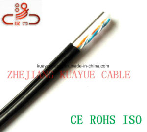 Drop Wire 2 Pair Messenger Telephone Filled Cable/Cable Network/ Communication Cable/ UTP Cable/ Computer Cable pictures & photos