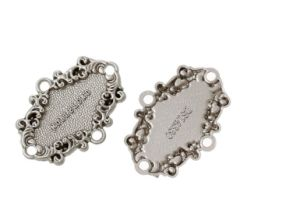 Oval Silver Tone Message Pattern Garment Accessories Zinc Metal Alloy Leather Badge pictures & photos