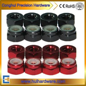 Colored Aluminum Hex Lock Nuts M2-M5 pictures & photos