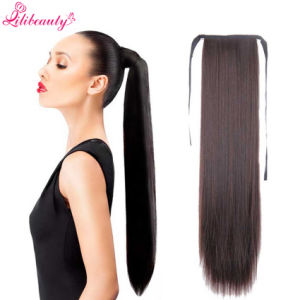 Hot Sale Long Straight Ponytail Fashion Natural Hair Women′s Ponytail pictures & photos