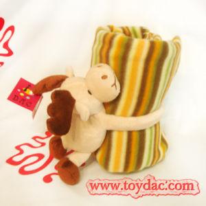 Plush Deer Baby Blanket Set pictures & photos