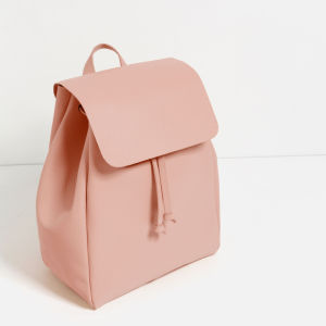 Professional Guangzhou Supplier Baby Pink PU Fashion Backpack for Women pictures & photos