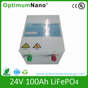Deep Cycle 24V 100ah LiFePO4 Solar Battery pictures & photos