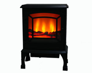 2015 Hot Sale Single Door LED Flame Electrical Freestanding Fireplace with CE/CB/GS Approved