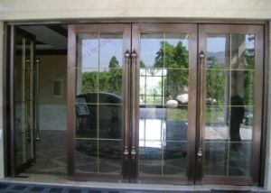 Copper Plating 304 Stainless Steel Entry Door (BHS-DC06) pictures & photos