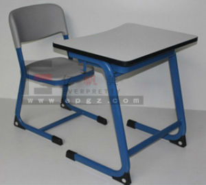 Modern Compact Laminate School Desk Chair Cheap School Furniture pictures & photos
