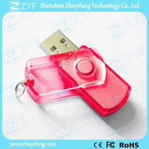 Multicolor Transparent Plastic Swivel USB Flash Drive (ZYF1813) pictures & photos