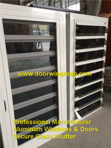 Top Quality Aluminum Safety Glass Louver Window, Customized Tempered Glass Beautiful Louver Windows pictures & photos