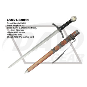 "23.23"" Overall Brown Sword with ABS Handle and Sheath pictures & photos"