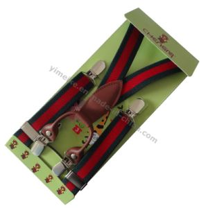 Durable Children Suspender with 4 Clips pictures & photos