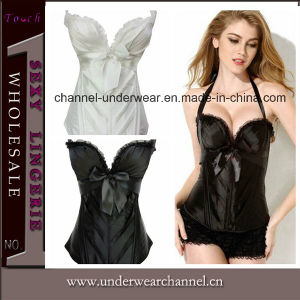 Sexy Women Plus Size Satin Bridal Overbust Corset (T5360) pictures & photos