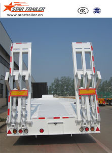 3 Axles Low Bed Semi-Trailer with Width Extendable pictures & photos