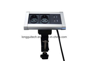 Desktop Mounting Socket with USB Charging Lgt-T02 pictures & photos